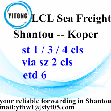 LCL Combined Transport from Shantou to Koper