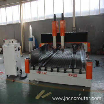 CNC double head stone router
