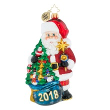 Santa Claus Figurine Customized Christmas Glass Ornaments