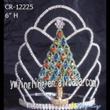 8 Inch Rhinestone Tree Pageant Crowns For Christmas