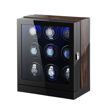 Multi-rotors watch wooden watch winder for nine watches