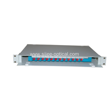 Wholesale Price for Optical Fiber Distribution Frame Manufacturers and Suppliers in China 12 Fibers Rack mount Fiber Distribution Box supply to Guam Factories