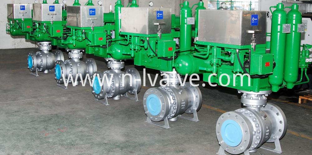 Pneumatic Actuated Trunnin Ball Valve