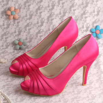 Purple Wedding Shoes for Bride High Heeled