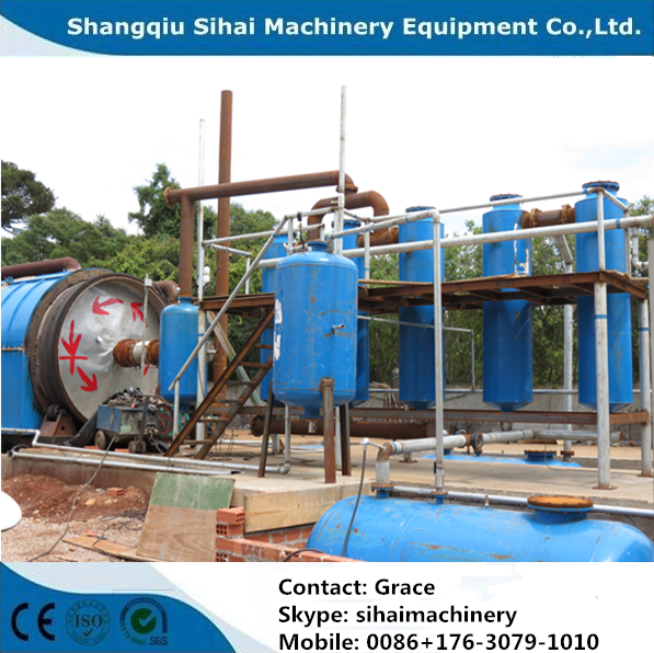 high efficiency waste tire pyrolysis plant