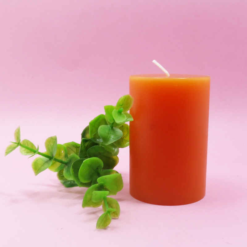 Colorful diameter 5cm 7.5cm pillar candle