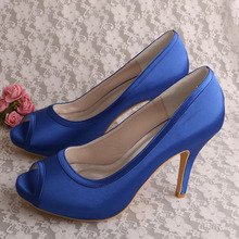 Blue Open Toe Shoes for Wedding Size 6