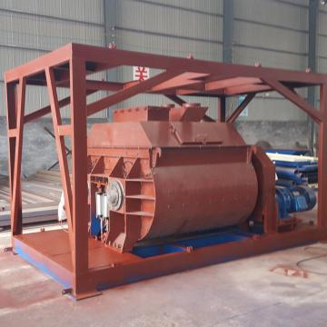 1 cubic yard twin shaft concrete mixer machine