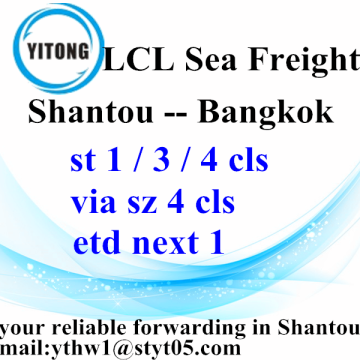 OEM/ODM Supplier for Sea Freight LCL Shantou Consolidation Shipping to Bangkok supply to Armenia Manufacturer