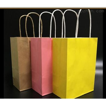 Kraft paper bags with twisted bags