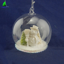 glass ball with snowman for Christmas decoration