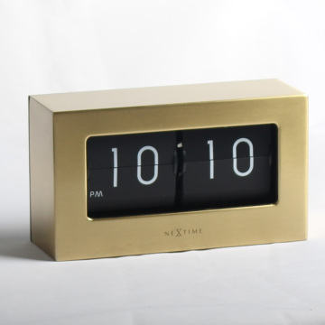 Retro Medium Flip Clock Golden