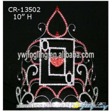 Large Heart Shape Crown For Valentine's Day
