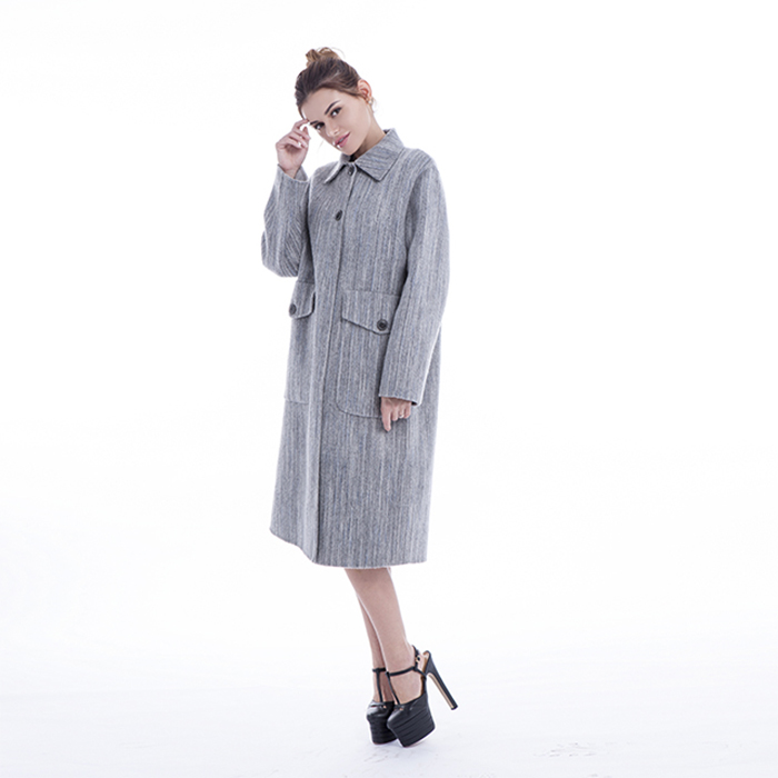Fashionable Light Grey Winter Outwear