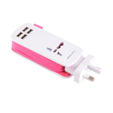 Portable Travel Charger Outlets 4 USB Charger