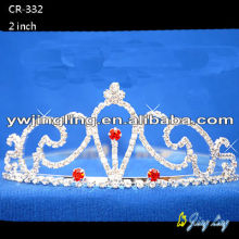 2018 Beauty Red Crystal Wedding Bride Tiara
