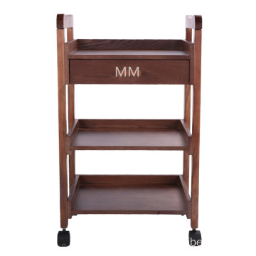 Salon Furniture solid wood Trolley with a drawer