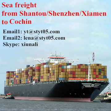 Best ocean freight from Shantou to Cochin