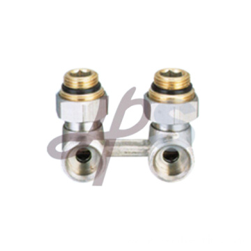 Brass H pattern valve for heating system