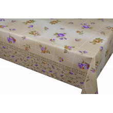 Elegant Tablecloth with Non woven backing Yellow