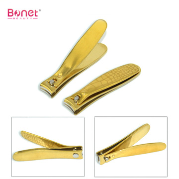 Curve edge titanium coating gold color toenail clippers