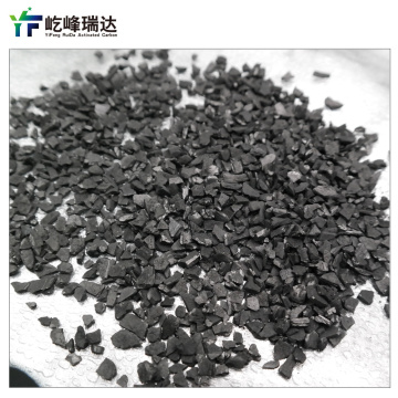 Decolorizing granular activated carbon