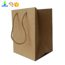 Kraft paper shopping bag with handle