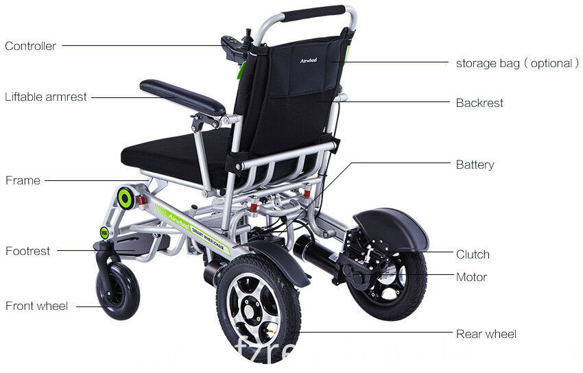 Fully automatic foldable power wheelchair