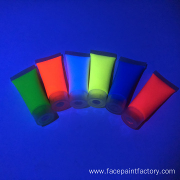 Green blacklight reactive face paint nontoxicHypoallergenic
