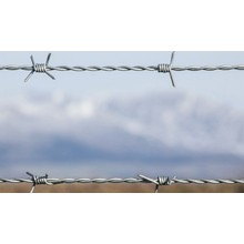 pvc coated fence panel with barb wire