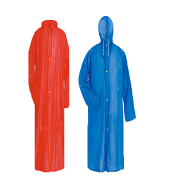 PVC/Polyester RainJacket With Zipper Button
