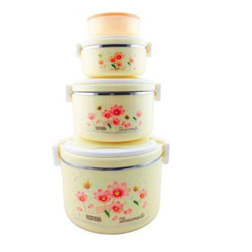 Custom Pattern Stainless Steel Food Container Set