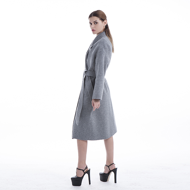 Side of cashmere coat