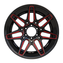 Alloy Aftermarket Truck Wheel 20x9.5 Red Milled