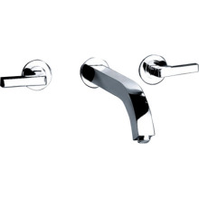 Two Handle  Chrome Brass Washbasin Faucet