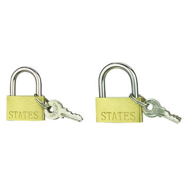Factory Price for Single Skin Brass Padlock 20MM Thin Brass Padlock With Iron Key For Wholesale export to Greenland Suppliers