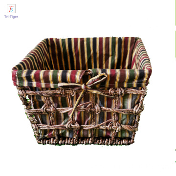 Corn husk straw woven basket various colors Storage Basket