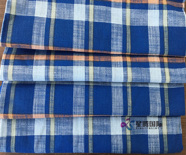 Bamboo Fiber Checked Plaid Fabric