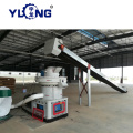 Grass rice husk straw press pellet line price