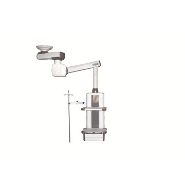 Ceiling mounted double arm electric surgical pendant