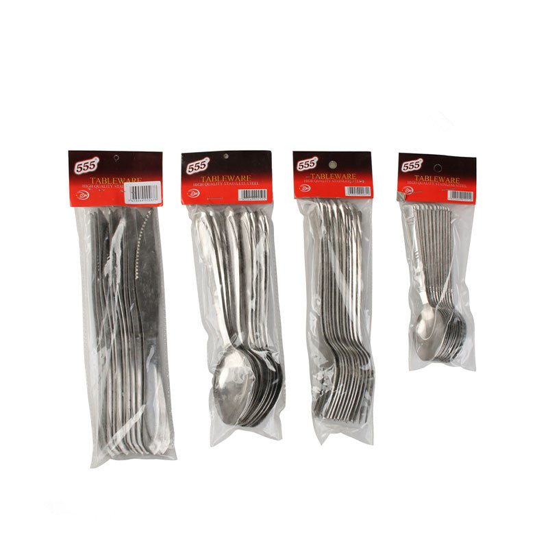 12Pcs PVC Bag Stainless Steel Cutlery Set