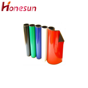Isotropic Flexible Red Rubber Magnet with PVC