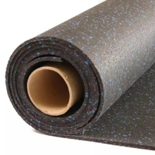 Anti-slip rubber rolled gym flooring