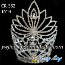 Jingling High quality Flower Rhinestone Crowns for pageant