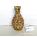 Round Water Hyacinth Flower Vase