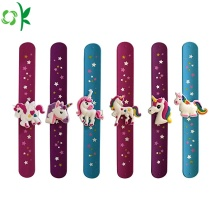Popular Unicorn Silicone Slap Bracelet for Girls