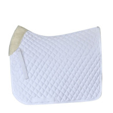 White Dressage Poly Cotton Horse Saddle Pad