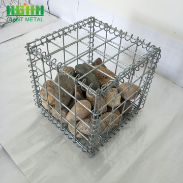 Galvanized gabion basket for river bank