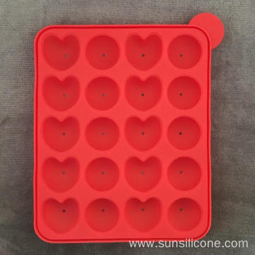 Heart-shaped multi-functional silicone ice box cake mold