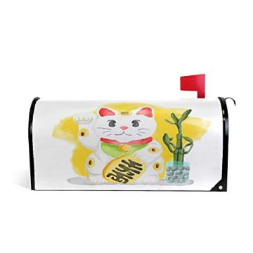 Custom Lucky Cat magnetic mailbox cover